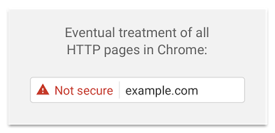 Chrome insecure website message